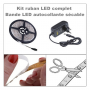 Ruban LED en bande flexible autocollante. Ruban LED blanc chaud 3000°K