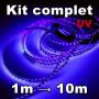 Ruban LED 3528 blanc froid kit complet de 1 à 10 mètres